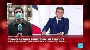 2020-12-17 13:11 Coronavirus pandemic: France's Macron self isolate, continue to work from the Élysée Palace
