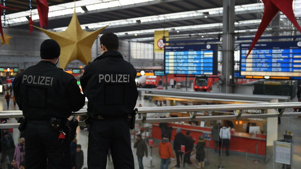 الشرطة الألمانية في محطة ميونيخ 2016/01/01