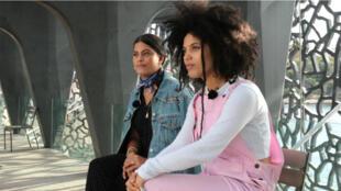 Naomi et Lisa-Kaindé Diaz, du groupe Ibeyi, au Mucem de Marseille