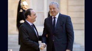 Le président Hollande et le Premier ministre algérien Sellal, le 4 décembre 2014 à l'Élysée