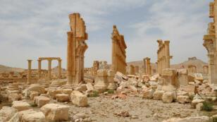 Une photo du site antique de Palmyre prise le 27 avril 2016 et publiée par l'agence de presse officielle syrienne Sana.