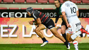 Toulouse's Cheslin Kolbe has scored eight tries in 14 Tests since making his South Africa debut in 2018