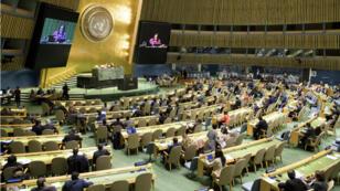 Representantes de los países miembros de la ONU durante la reunión realizada el 31 de octubre de 2018 en la sede del organismo en Nueva York para pedir el fin del embargo económico y comercial de Estados Unidos contra Cuba.