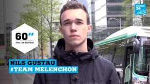Nils Gustau, 17 ans, soutient Jean-Luc Mélenchon pour la présidentielle