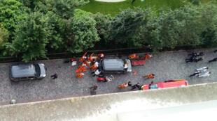 مكان الحادث بضاحية باريس لوفلوا بيريه