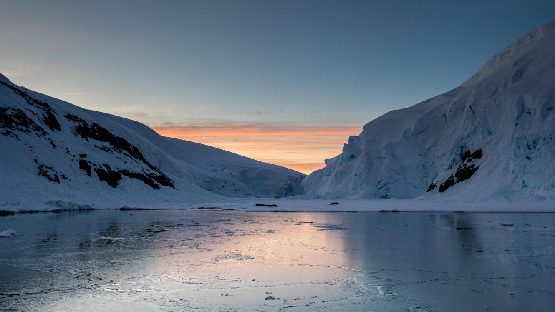 Une vue de l'Antarctique.
