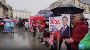 Dernier jour de campagne en Pologne pour l'élection présidentielle du 28 juin 2020.