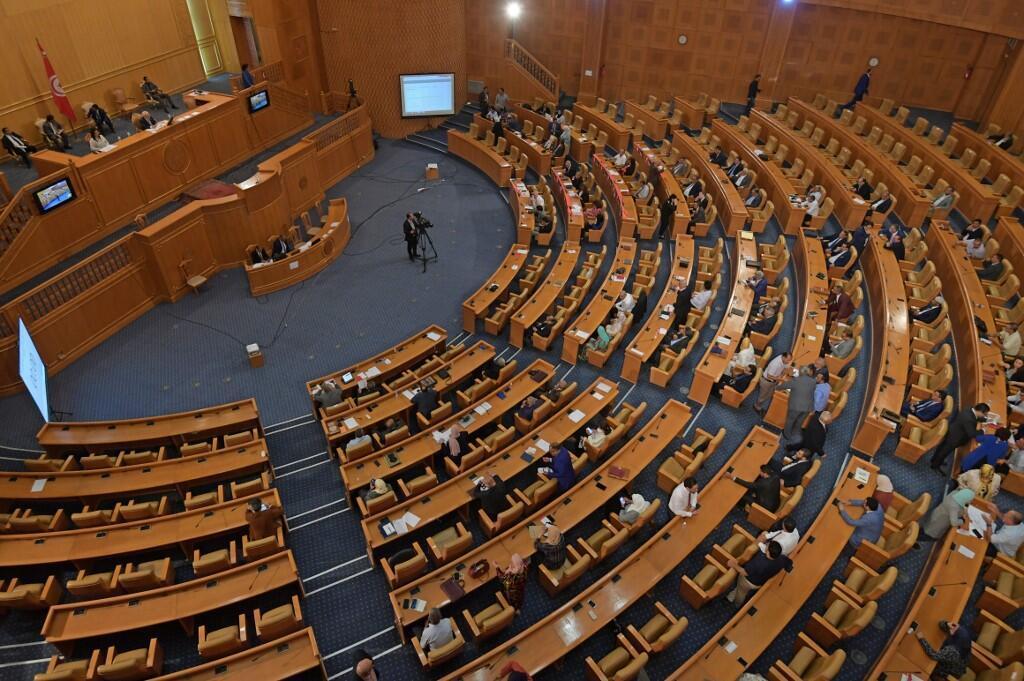 البرلمان التونسي في جلسة 3 يونيو/حزيران 2020.