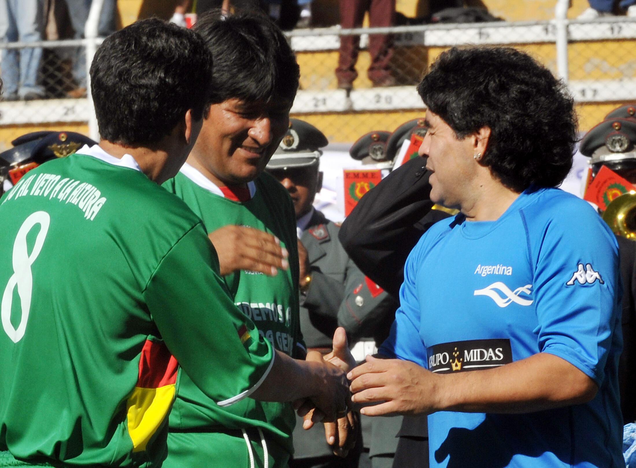 Diego Maradona Evo Morales