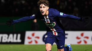 Adil Aouchiche celebrated his first professional goal in the French Cup against Linas-Montlhery