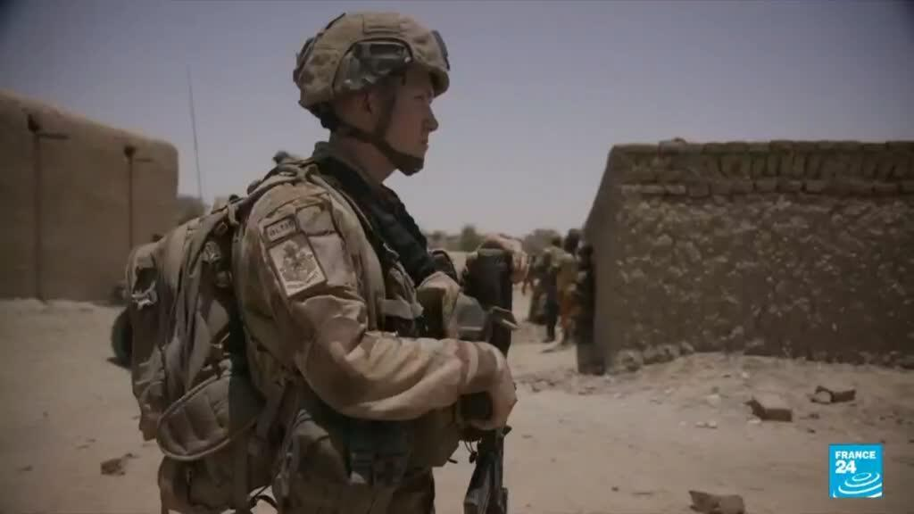 A French soldier keeps watch in Mali.