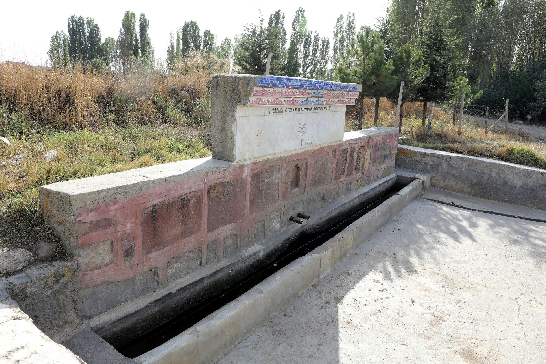 A fountain in Akkuzulu, Turkey, is left dry due to lack of rain