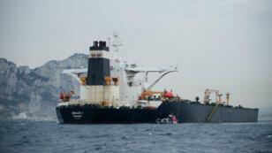 Le pétrolier Grace 1, au large des côtes de Gibraltar, le 6 juillet 2019.