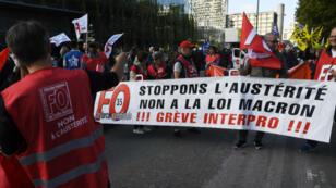 Des manifestants contre la réforme du Code du travail à Rennes, le 12 septemre 2017.