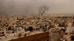 لقطة لمدينة حلب من قلعتها الأثرية 7 ديسمبر 2016