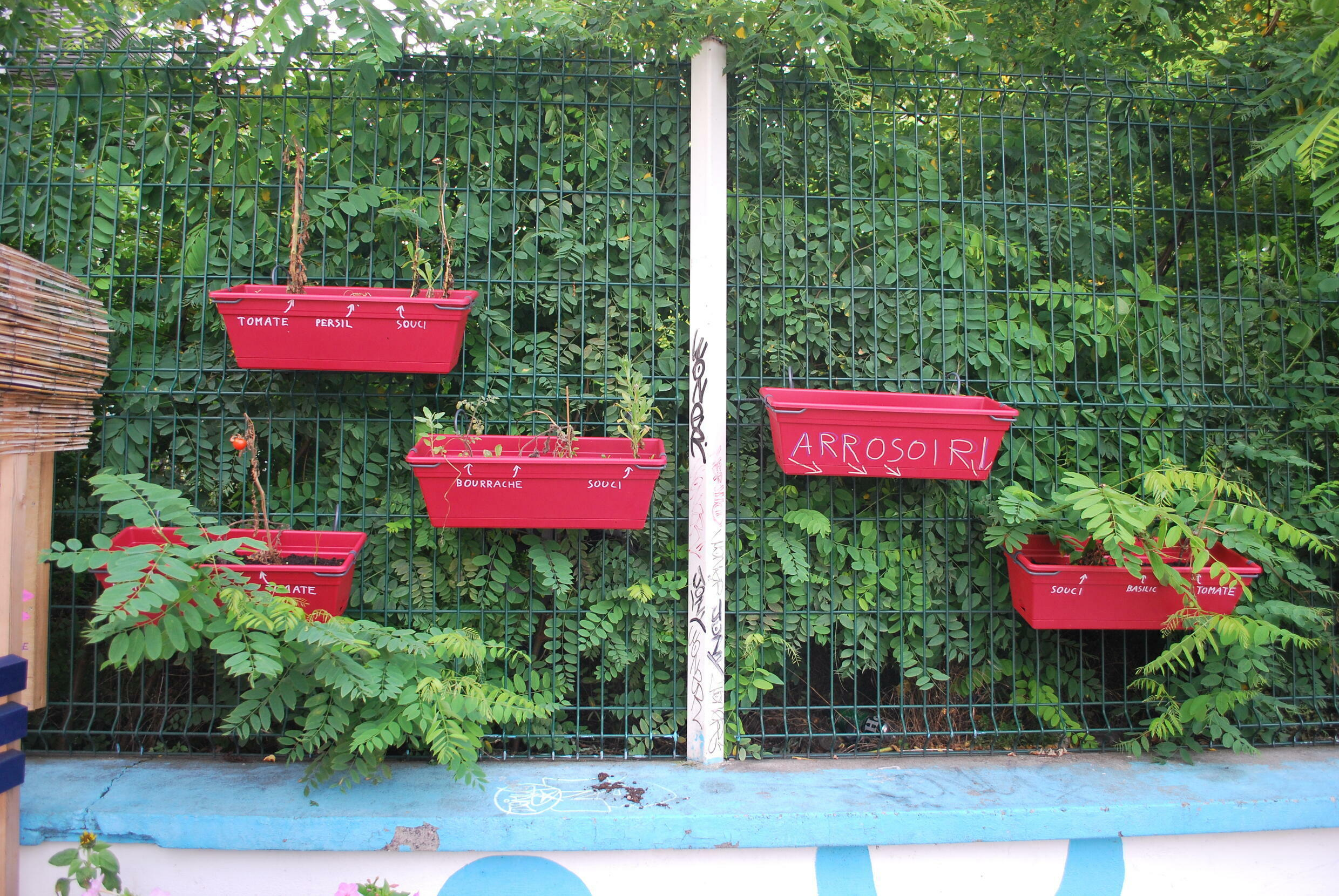 Rue Berthier, where the tunnel barrier was built, is home to a community garden.