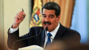 """El presidente venezolano, Nicolás Maduro, dejó claro el 8 de febrero que no permitirá la entrada de ayuda humanitaria a su país y denunció que detrás de ello hay un """"plan de intervención"""" estadounidense."""