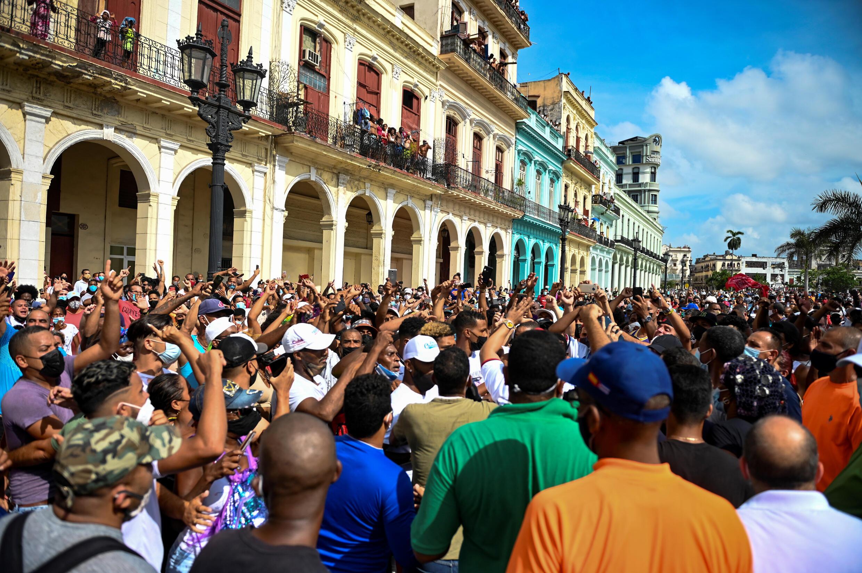 En esta foto de archivo, una de las manifestaciones antigubernamentales del 11 de julio de 2021, en La Habana.