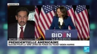 """2020-08-13 06:08 Présidentielle américaine : """"démarrage réussi pour le tandem Biden - Harris"""""""