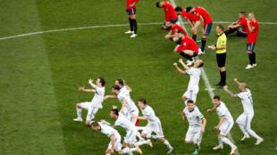 Momento en el cual Rusia elimina a España de los octavos de final tras la tanda de penaltis