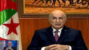 Algeria's President Abdelmadjid Tebboune dissolved parliament and called for early elections in a speech to the nation on Feb. 18, 2020.