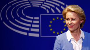 German Defence Minister Ursula von der Leyen, who has been nominated as European Commission president, briefs the media in Brussels, Belgium on July 10, 2019.