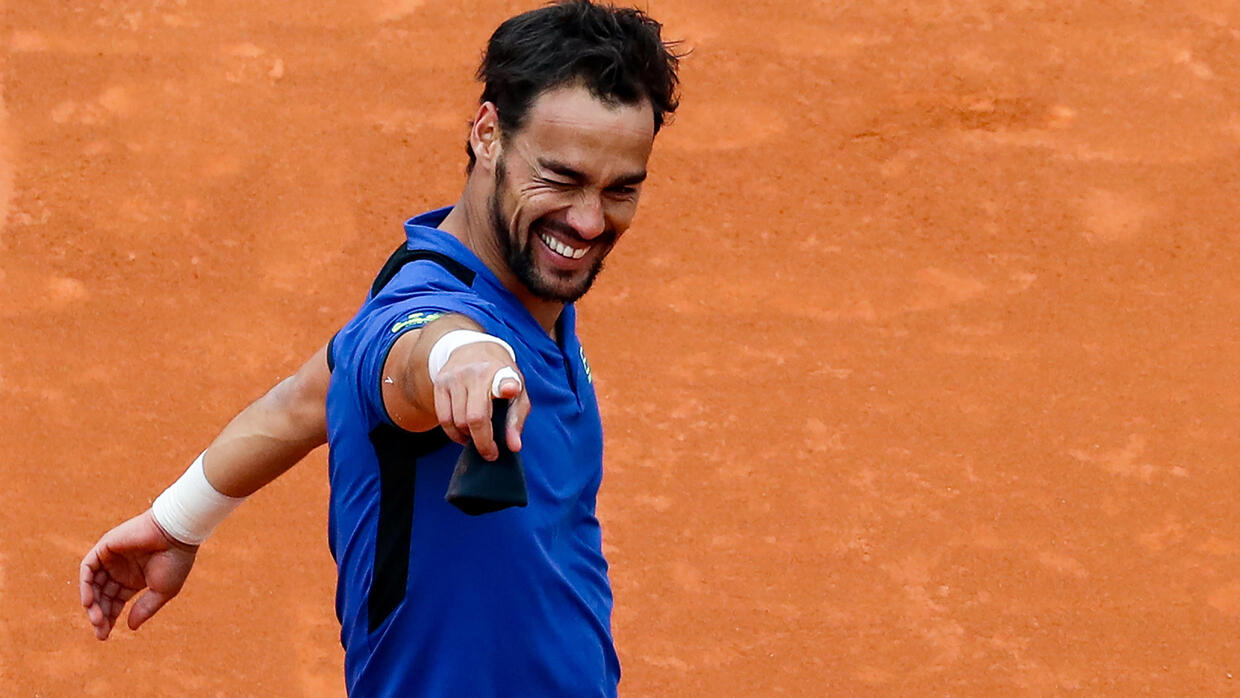 Fognini wants wife Pennetta to make comeback like Clijsters