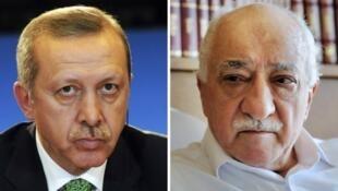 الداعية فتح الله غولن والرئيس  التركي رجب طيب اردوغان