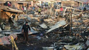 L'explosion s'est produite à Tultepec, près de Mexico, sur un marché spécialisé en produits pyrotechniques.