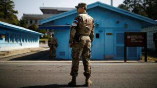 El presidente de Estados Unidos, Donald Trump, indicó que la reunión que sostendrá con su par norcoreano, Kim Jong-un,  podría realizarse en la zona desmilitarizada de Corea del Sur. Abril 18 de 2018.