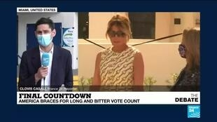 2020-11-03 19:25 US Election Day:  Melania Trump casts her vote near Florida resort