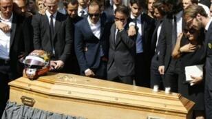 جنازة سائق فورمولا واحد جول بيانكي في نيس جنوب شرق فرنسا