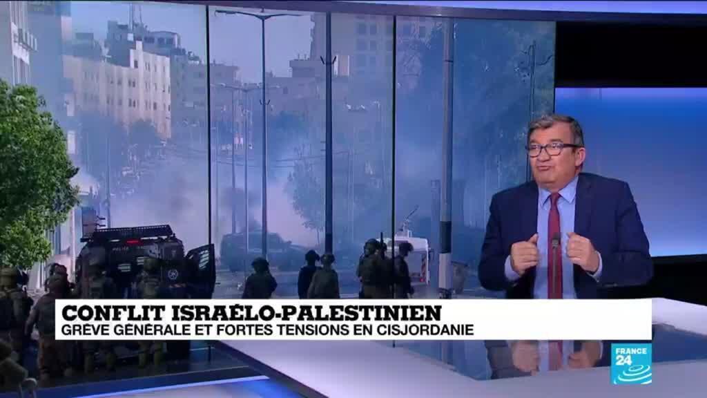 2021-05-18 16:00 Conflit israélo-palestinien : grève générale et fortes tensions en Cisjordanie