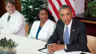 Barack Obama au Centre de contrôle et de prévention des maladies à Atlanta,  mardi 16 septembre.