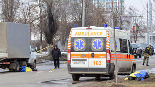 L'engin, qui a explosé à Kharkiv pendant une marche patriotique, a fait deux morts, le 22 février 2015.