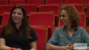 """Pauline Bayle (à gauche) a adapté pour les planches de la Comédie-Française le roman """"Chanson douce"""" de Leïla Slimani (à droite)."""