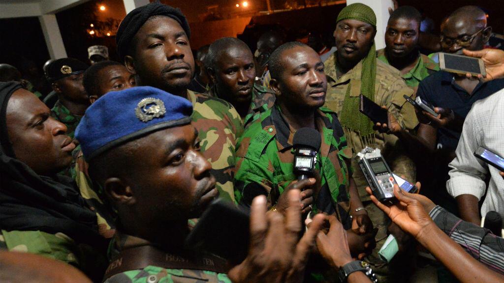 ناطق باسم الوفد المفاوض نيابة عن الجنود المتمردين في ساحل العاج في 7 كانون الثاني/يناير 2017