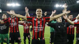 Hatem Ben Arfa, triomphant avec l'OGC Nice au soir de la victoire contre Saint-Étienne (1-4).