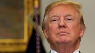 El presidente de EE. UU., Donald Trump, en la Casa Blanca en Washington, EE.UU., durante el anuncio de su jefe de campaña el 27 de febrero de 2018.