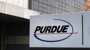 Le siège de l'entreprise pharmaceutique Purdue, à Stamford dans le Connecticut, le 2 avril 2019.