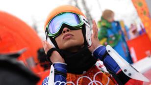 La violoniste et skieuse Vanessa Mae aux JO de Sotchi en 2014.
