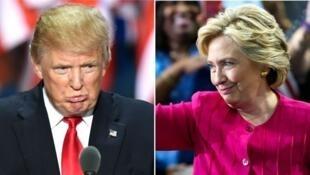 كلينتون وترامب مرشحا الرئاسة الأمريكية
