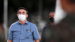 Brazilian President Jair Bolsonaro says he has tested negative for the coronavirus