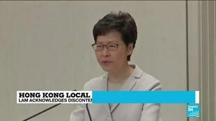 2019-11-26 11:37 Hong Kong local elections: Carrie Lam refuses to give ground after poll setback