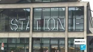 Station F, a start-up hup and resource center in Paris, France. The money injected by venture capital funds into French start-ups jumped 30 percent over the first three quarters of 2019 from a year earlier to €3.9 billion.