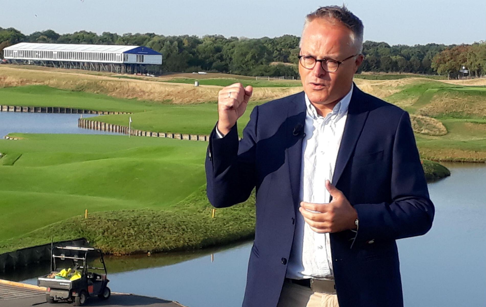 """Pour Paul Armitage, le directeur du Golf national, cette Ryder Cup constitue une """"occasion unique d'apporter un coup de projecteur inédit au golf hexagonal""""."""