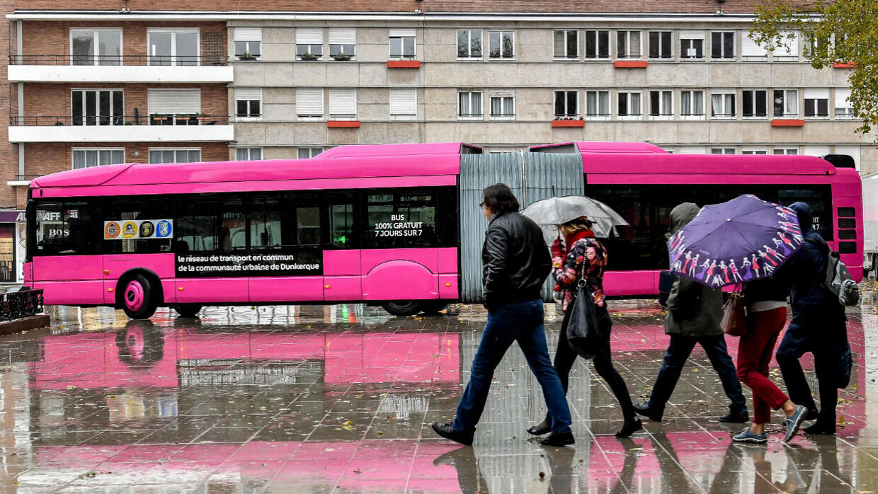 French city of Dunkirk tests out free transport – and it works