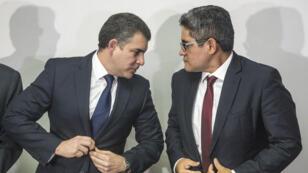En la foto, el fiscal coordinador del equipo Lava Jato, Rafael Vela, y el fiscal José Domingo Pérez.