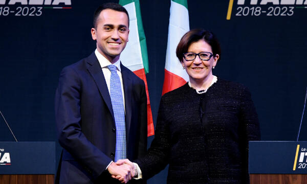 Joint Deputy PM and Labour Minister Luigi Di Maio with Defence Minister Elisabetta Trenta.