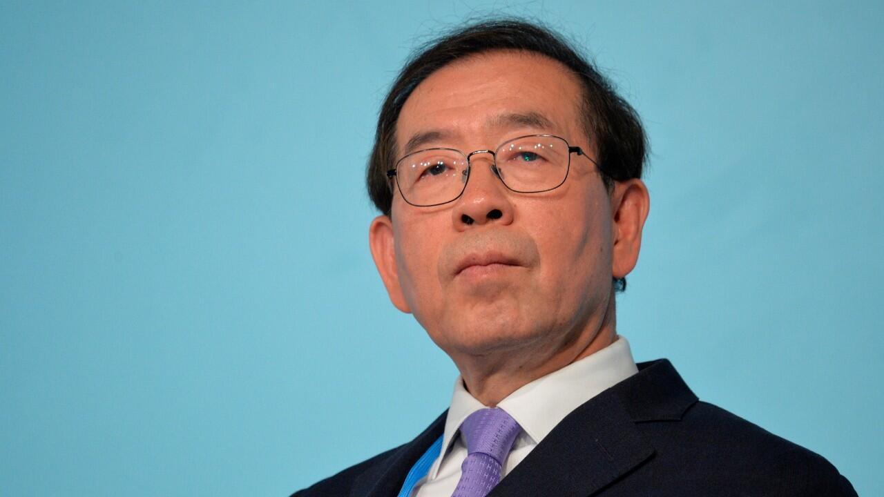 El alcalde de Seúl, Park Won-soon, en una imagen de archivo del 13 de noviembre de 2017, mientras atendía una conferencia sobre el cambio climático de las Naciones Unidas en Bonn, Alemania.